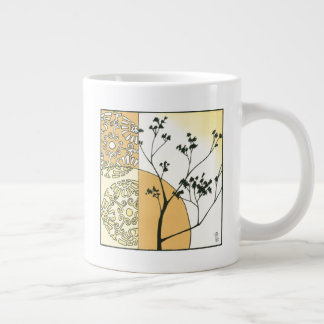 Sparse Tree Silhouette by Megan Meagher Large Coffee Mug