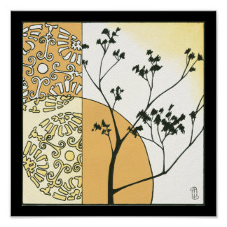 Sparse Tree Silhouette by Megan Meagher Poster