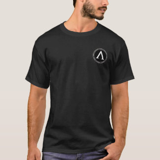 Sparta Black & White Lambda Seal Shirt