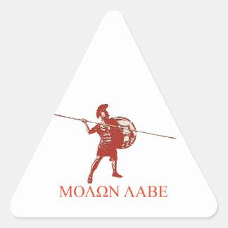 Sparta spartan red triangle sticker