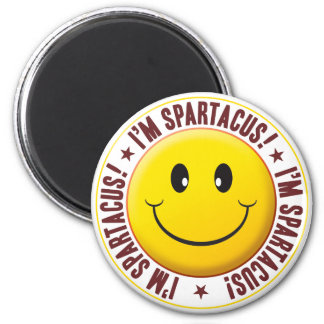 Spartacus Smiley 6 Cm Round Magnet