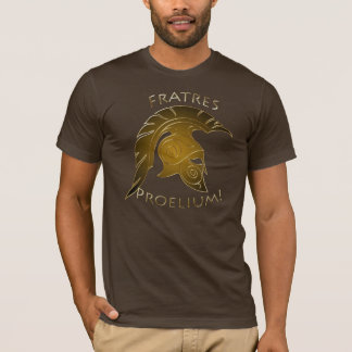 Spartan Battle Trojan Greek Warrior Bronze Gold T-Shirt