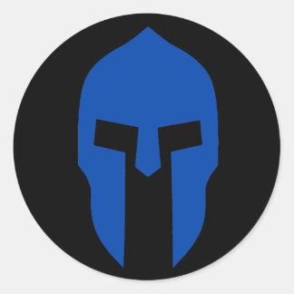 Spartan Blue Classic Round Sticker