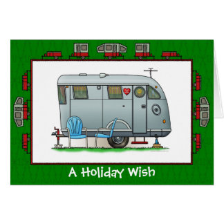 Spartan Camper Trailer Holiday Wish Card