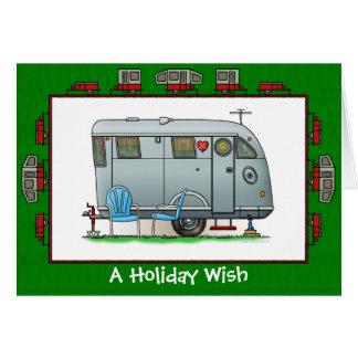 Spartan Camper Trailer Holiday Wish Greeting Card