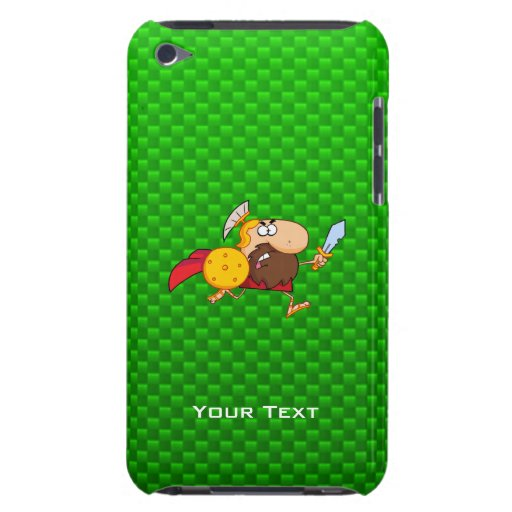 Spartan Gladiator; Green Barely There iPod Cases