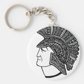 Spartan Head Key Ring