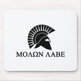 Spartan Helmet Molon Labe Mouse Pad