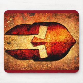 Spartan Helmet On Rust Background With A Color Bur Mouse Pad