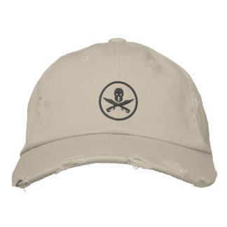 Spartan Helmet Swords Circle Embroidered Hat