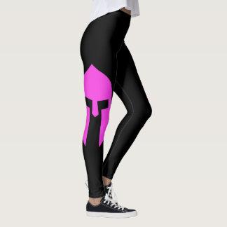Spartan In Pink Leggings
