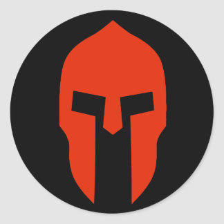 Spartan Red Classic Round Sticker