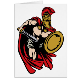 Spartan Roman or Trojan Ancient Greek Warrior Card