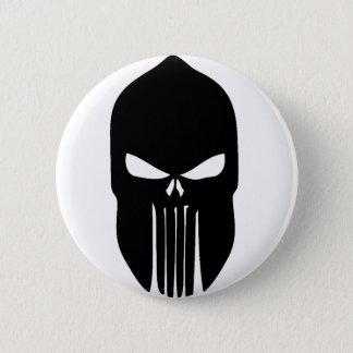 Spartan Skull 6 Cm Round Badge