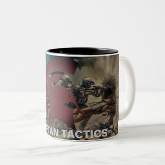 Spartan Tactics mug with art.