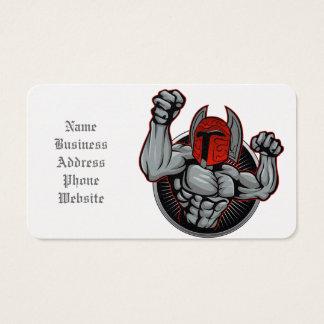 Spartan Trojan Mascot Business Card