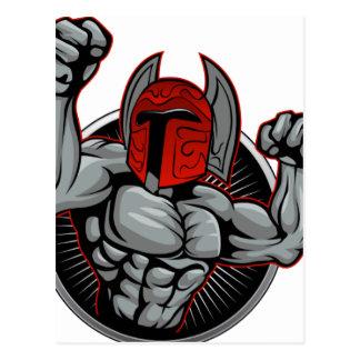 Spartan Trojan Mascot Postcard