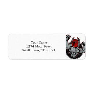 Spartan Trojan Mascot Return Address Label