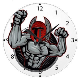 Spartan Trojan Mascot Wallclock