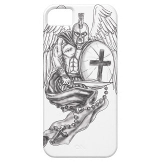 Spartan Warrior Angel Shield Rosary Tattoo Barely There iPhone 5 Case