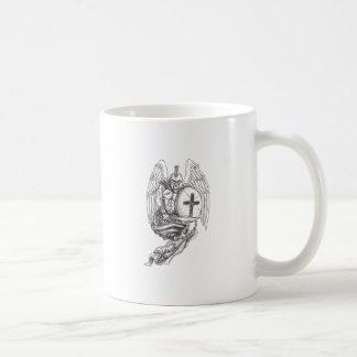 Spartan Warrior Angel Shield Rosary Tattoo Coffee Mug