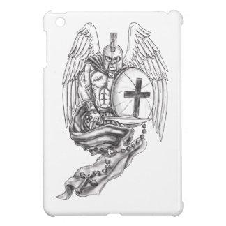 Spartan Warrior Angel Shield Rosary Tattoo iPad Mini Covers