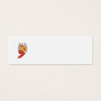 Spartan Warrior Angel Sword Rosary Drawing Mini Business Card