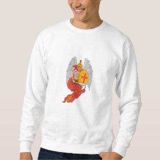 Spartan Warrior Angel Sword Rosary Drawing Sweatshirt