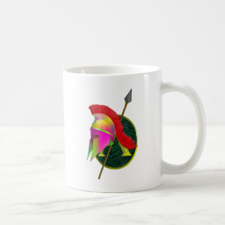 Spartan Warrior Colorful Coffee Mug