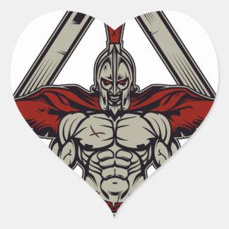 Spartan Warrior Heart Sticker