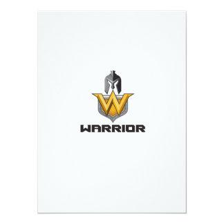 Spartan Warrior Helmet Shield W Retro 14 Cm X 19 Cm Invitation Card