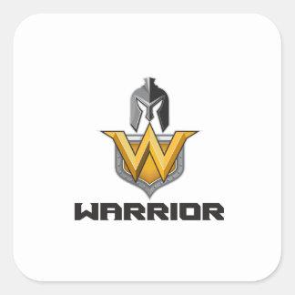 Spartan Warrior Helmet Shield W Retro Square Sticker