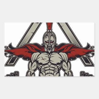 Spartan Warrior Rectangular Sticker