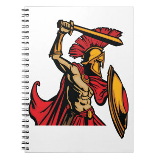 Spartan Warrior Spiral Notebook