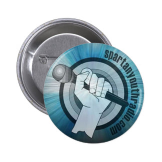 Spartan Youth Radio Starburst Button
