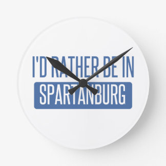 Spartanburg Round Clock
