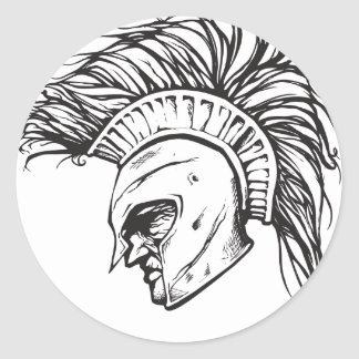 Spartans Classic Round Sticker