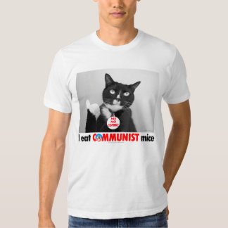 Spats-- the Cat who ate the Commie mouse T-shirt