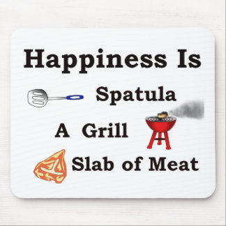 spatula grill and a slab of meat mouse pads
