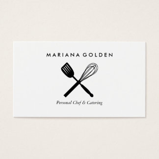 Spatula & Whisk Chef Caterer Business Card