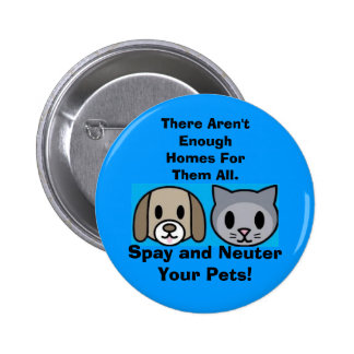Spay and Neuter Your Pets 6 Cm Round Badge