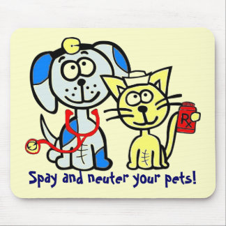 Spay and neuter your pets! mouse pad