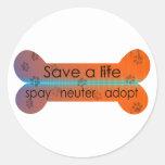 spay neauter adopt round sticker