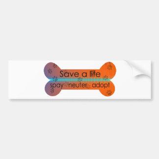 spay neuter adopt bumper sticker