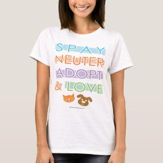 Spay Neuter Adopt Love T-Shirt