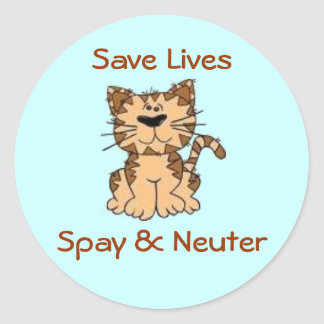 Spay & Neuter Classic Round Sticker