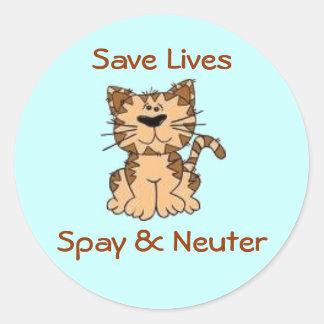 Spay & Neuter Round Sticker