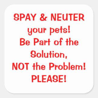 Spay Neuter sticker