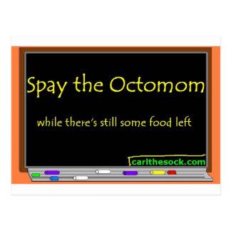 Spay the octomom postcard