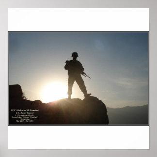 SPC Nicholas Ranstad, Hindu Kush Mountains, Afghan Poster